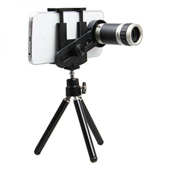 Tripod Lensa Telezoom 8x Smartphone Universal