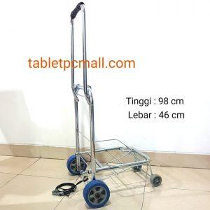 Troli Lipat 4 Roda Jumbo Stainless Foldable Trolley