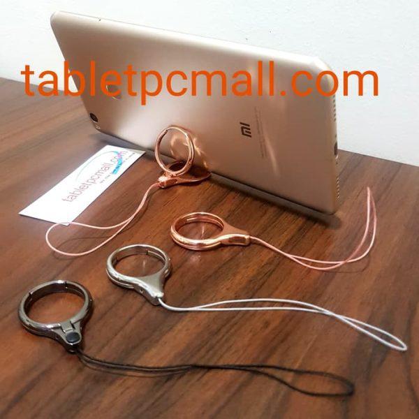 Finger Ring Stand Phone Holder Metal Lanyard Gantungan Tali Hp