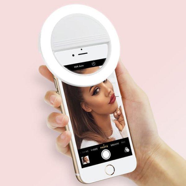 Lampu Ring Light Selfie LED Putih Smartphone