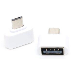 Mini OTG Adapter Micro USB ke USB