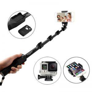 Tongsis Bluetooth Yunteng YT-1288 Original Professional Selfie Stick Go Pro