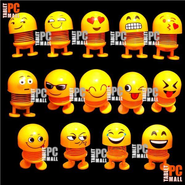 Boneka Per Goyang Kepala Emoji Pegas Emoticon Spring Shaking Head Doll