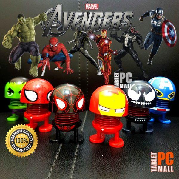 Boneka Per Emoji Avengers Head Spring Shaking Doll Dashboard Figure